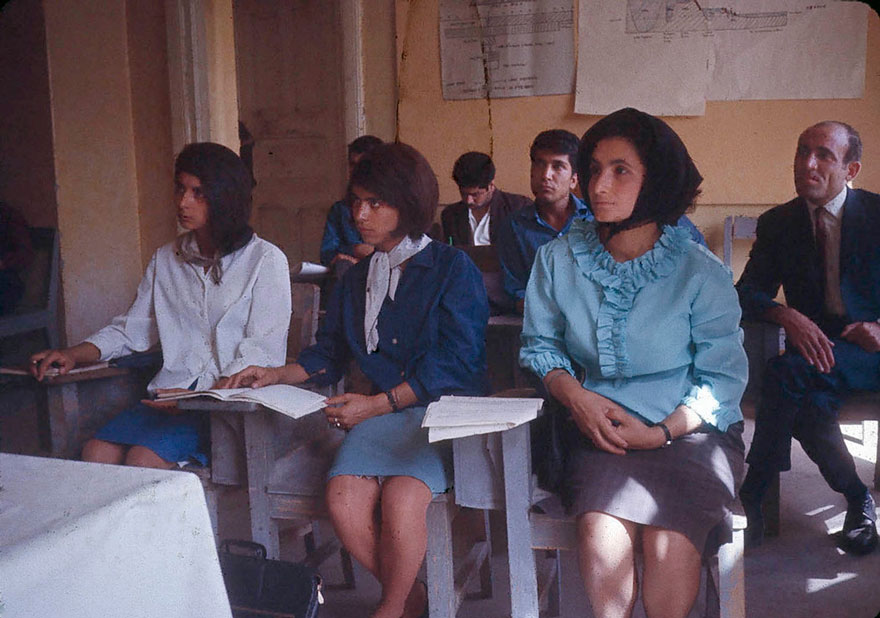 Students At The Higher Teachers College Of Kabul