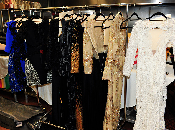 HOLLYWOOD, CA - MARCH 17: A general view of wardrobe at the Art Hearts Fashion LAFW Fall/Winter 2016 Day 5 at the Taglyan Cultural Complex on March 17, 2016 in Hollywood, California. (Photo by Arun Nevader/Getty Images)
