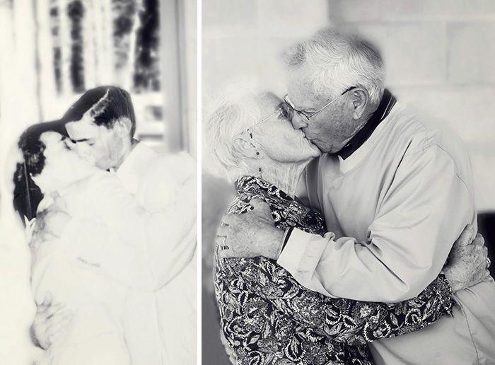 Dôkazy, že pravá láska trvá večne. Roztomilé fotografie ti ukážu, že zamilované páry sa rokmi menia minimálne