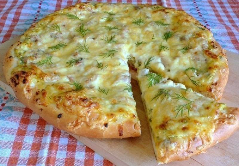 деревенская пицца с курицей рецепт