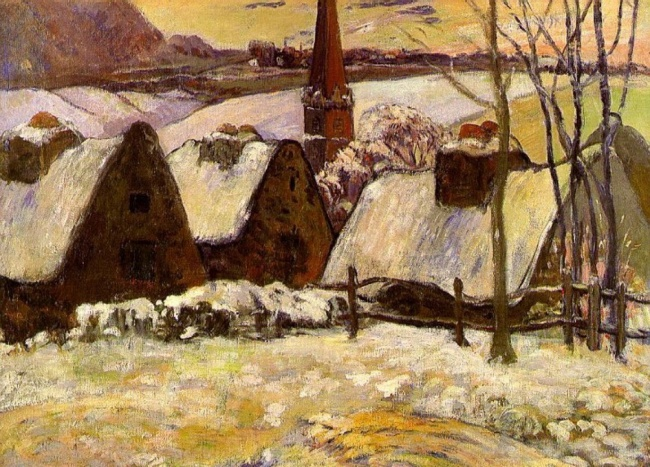 Breton Village in the Snow, Paul Gauguin, 1894