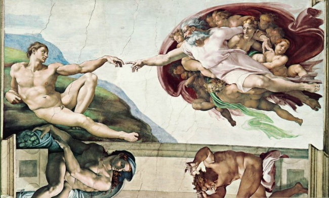 The Creation of Adam, Michelangelo, 1511
