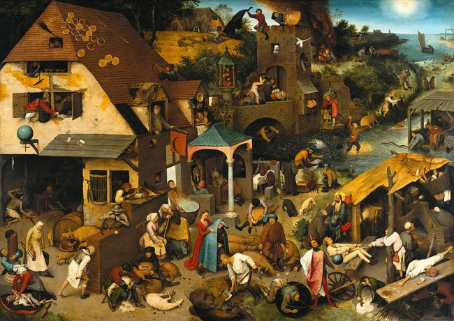 Netherlandish Proverbs, Pieter Bruegel the Elder, 1559