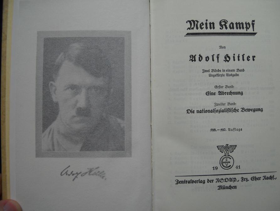 Výtlačok knihy Mein Kampf z roku 1941