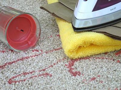 воск на ковре