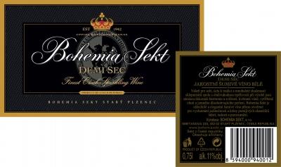 Etiketa Bohemia Sekt - DEMI SEC