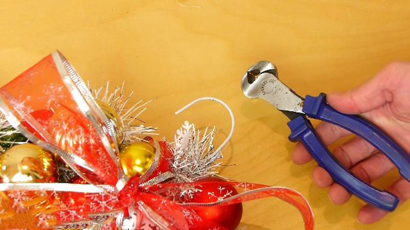 рождественский венок мастер класс видео