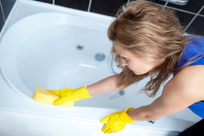 быстрая уборка ванной