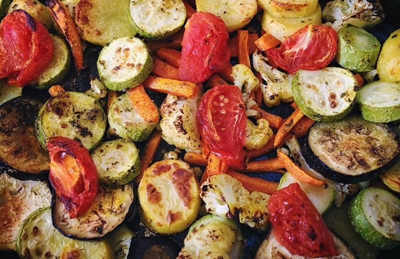 овощи в духовке на противне