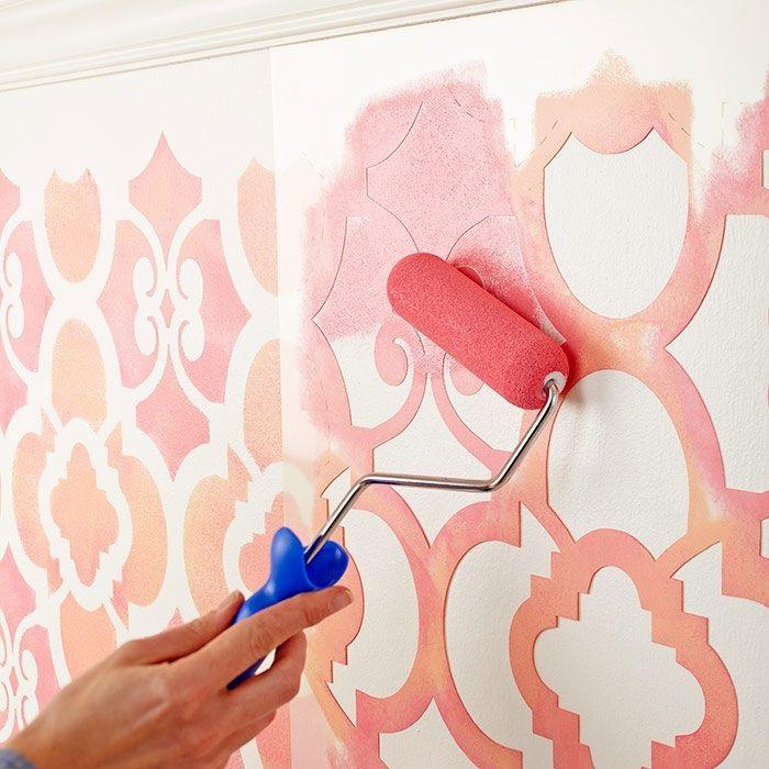 декор стен краской своими руками