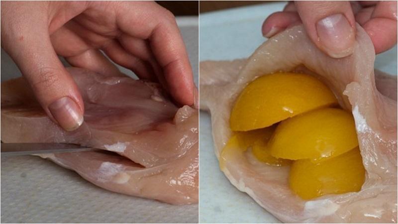 куриная грудка с абрикосами в духовке