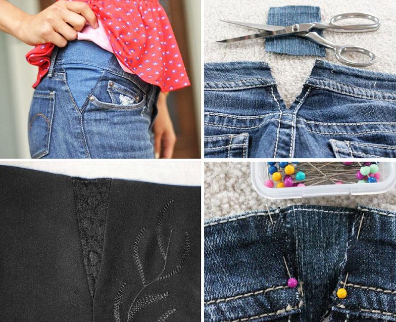 переделка любимых джинсов