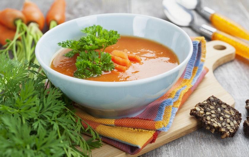 детокс-суп с морковью и имбирем