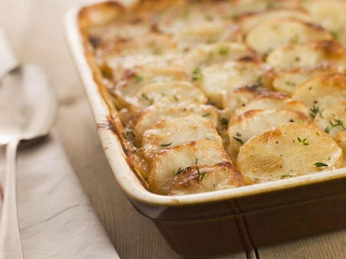 картофель с ветчиной в духовке