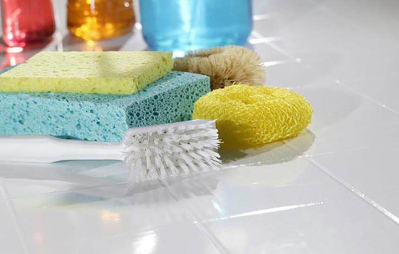 как очистить плитку