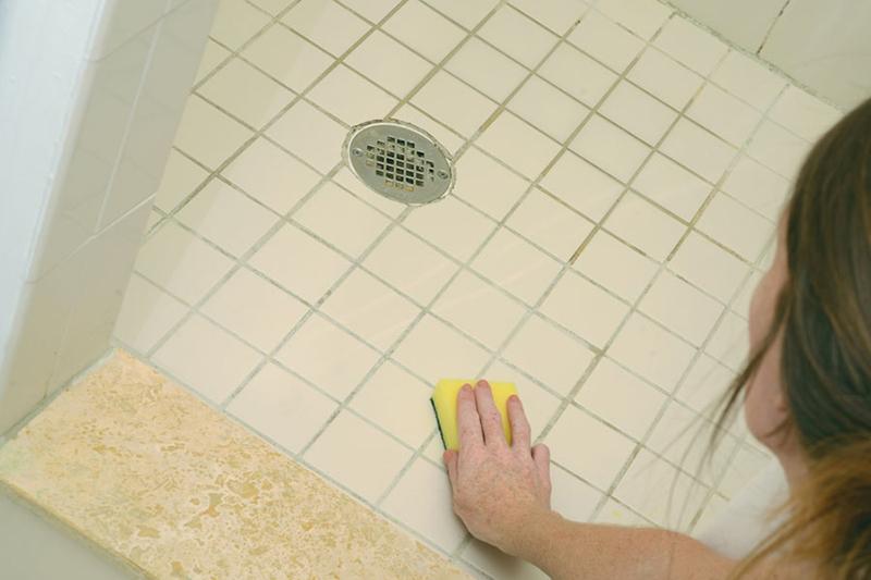 как очистить плитку в ванной от налета