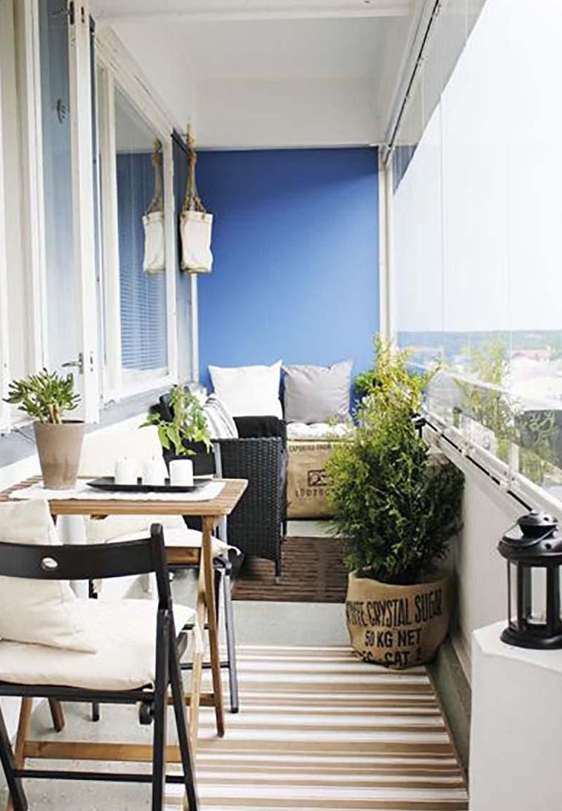 Balkóny štýlové dizajnové nápady