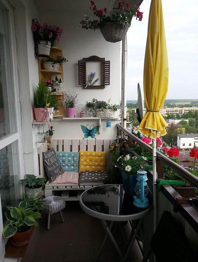 praktické nápady balkón