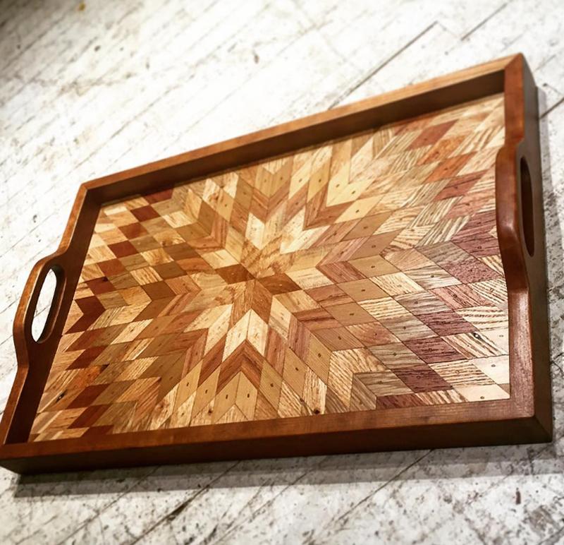 мозаичные деревянные столешницы