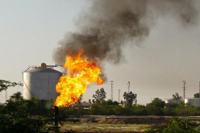 Near Ahvaz, oil fields, Iran