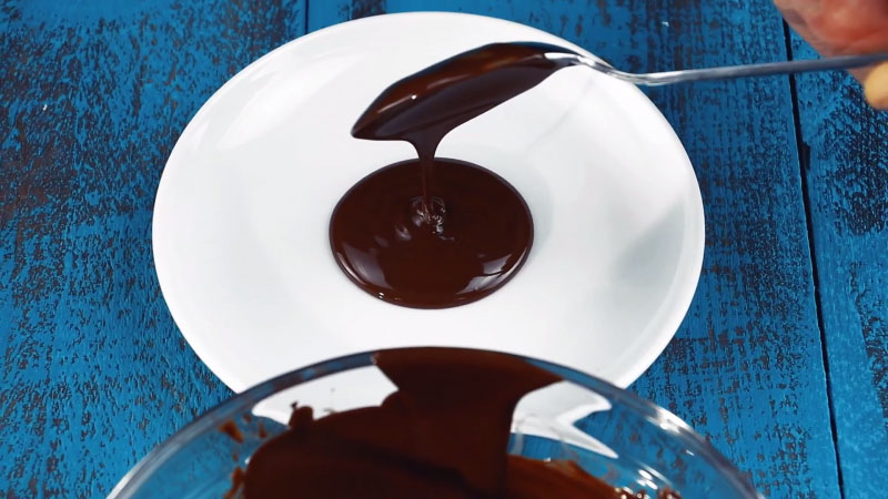 čokoláda na tanieri