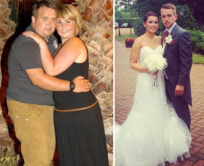 6378f3abc47c Každá žena chce na svojej svadbe vyzerať úžasne a táto kráska nie je  žiadnou výnimkou. Spolu s partnerom schudli 60 kilogramov a celý obrad  išiel ako po ...