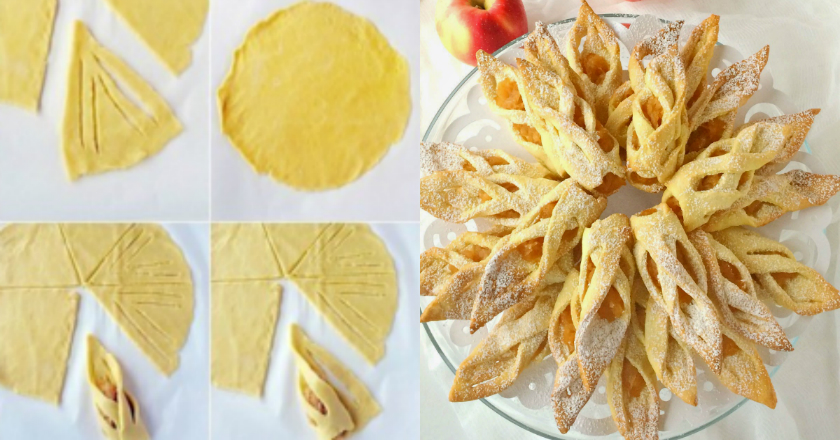 Хрустящее печенье с яблоками