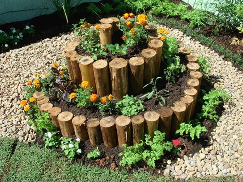 декоративные клумбы для сада