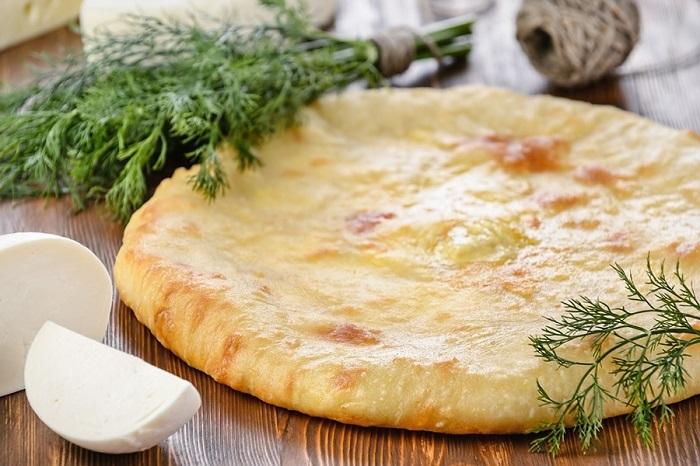 Ossetian koláč so syrom a bylinkami