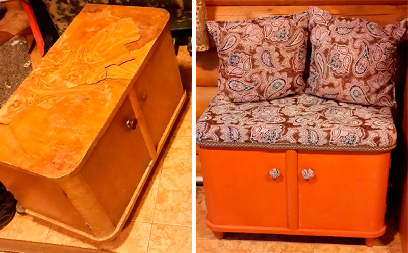 prepracovanie starého nábytku s jeho vlastných rúk