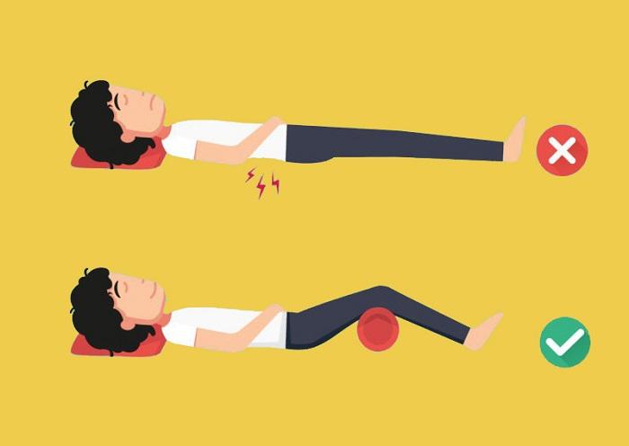 ako správne spať na chrbte