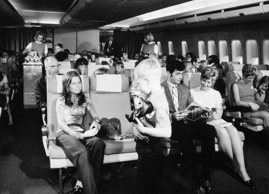 boeing 747 interior fotografia