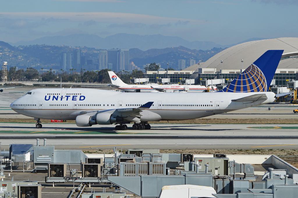 united airlines boeing fotografia