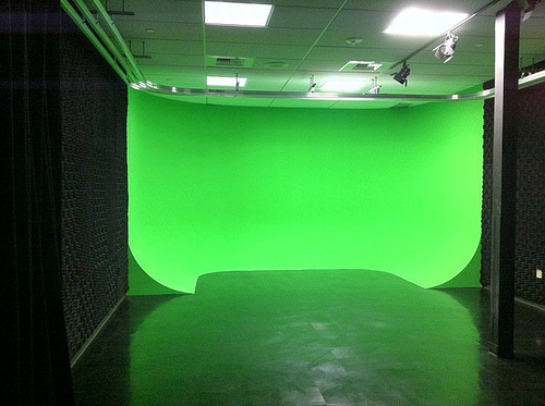 green screen fotografia