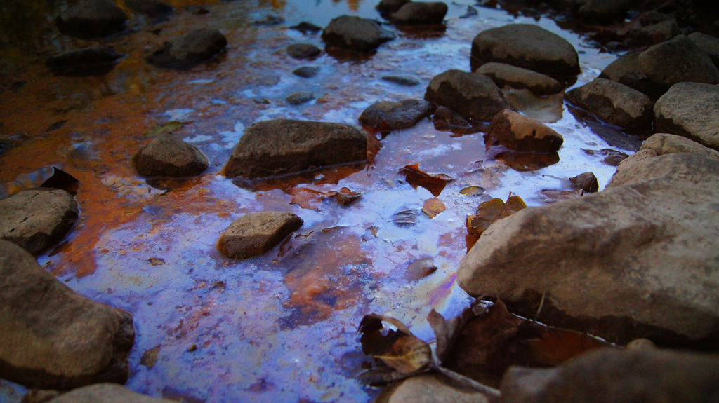 water polution fotografia