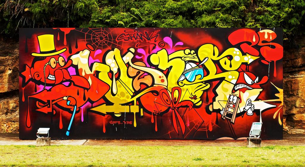 grafitti in sydney fotografia