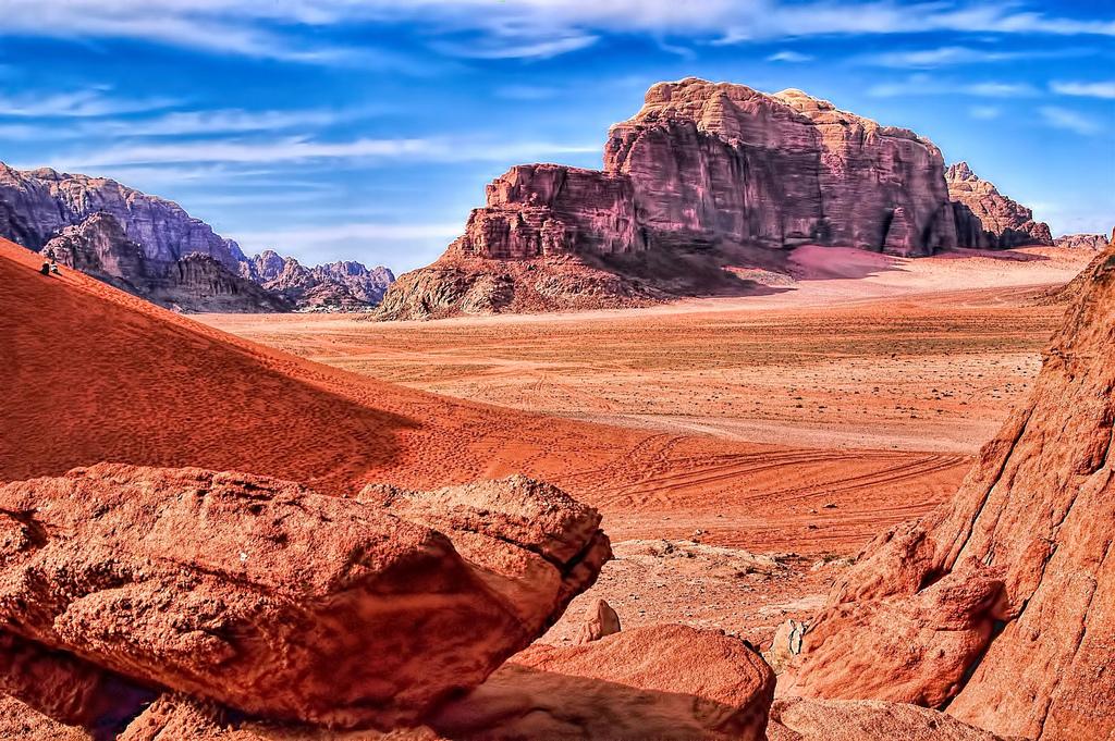 wadi rum jordan fotografia
