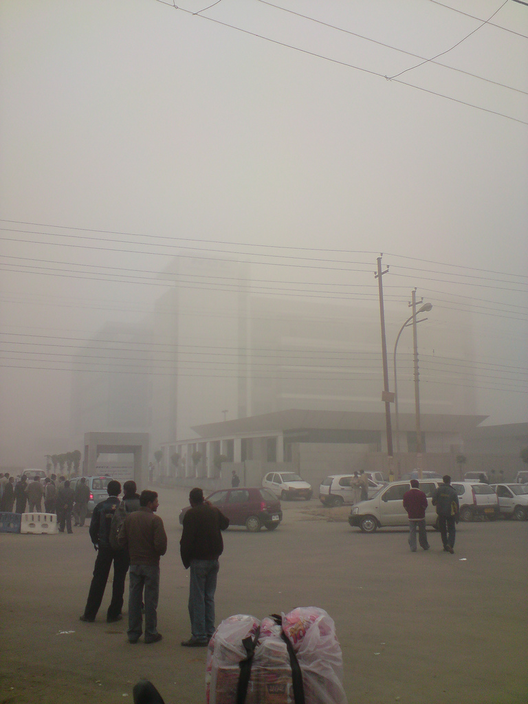 Delhi smog fotografia