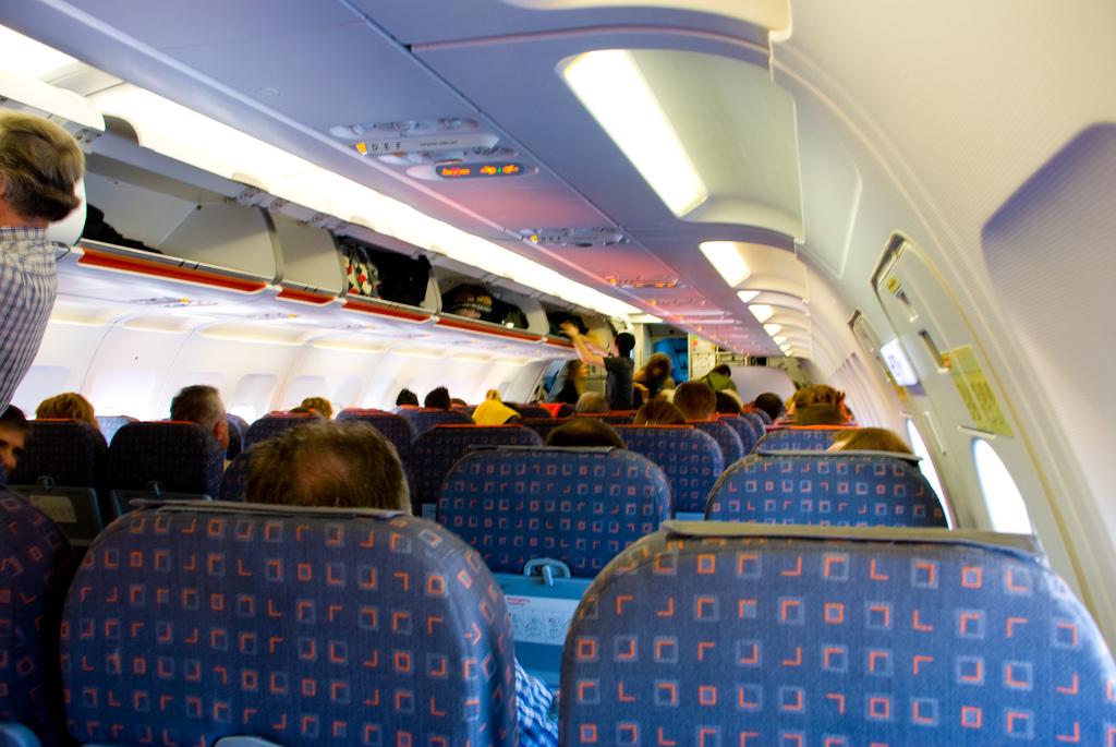 aeroplane seat fotografia