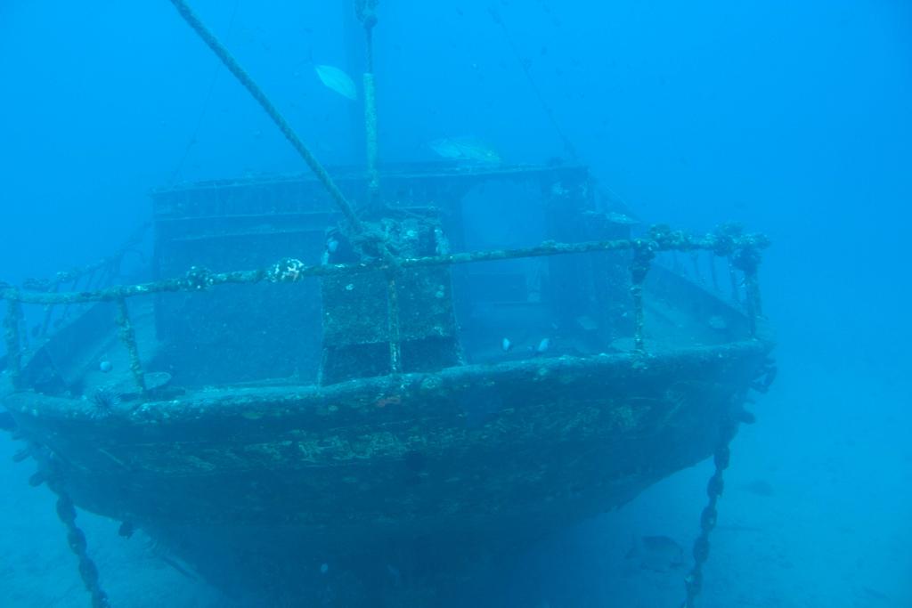 sunken ship fotografia