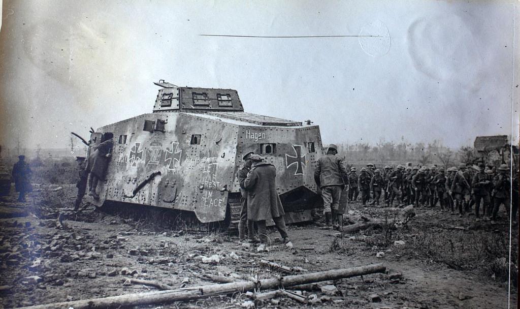 first world war tank fotografia