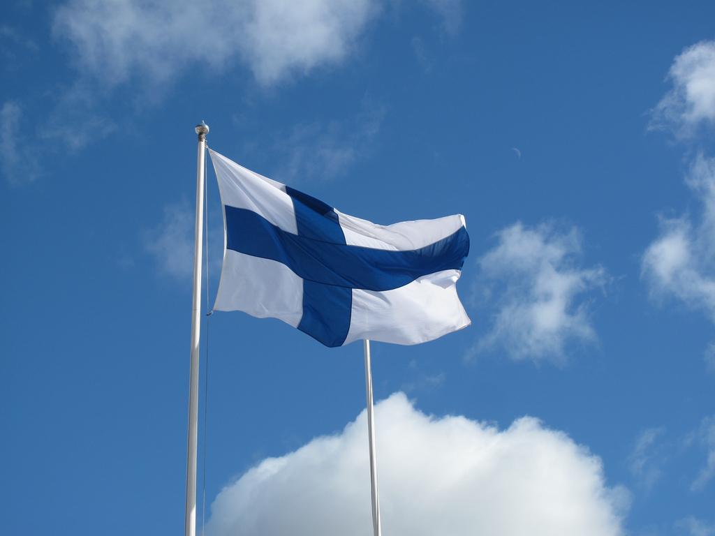finsko flag fotografia