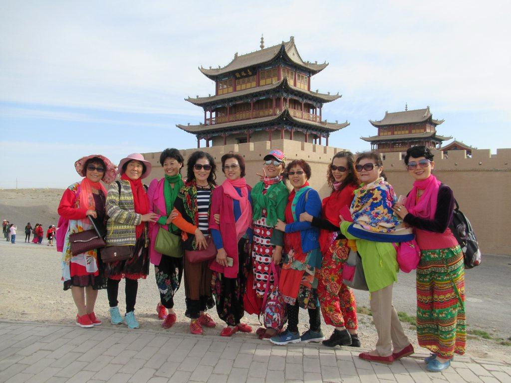 china tourists fotografia