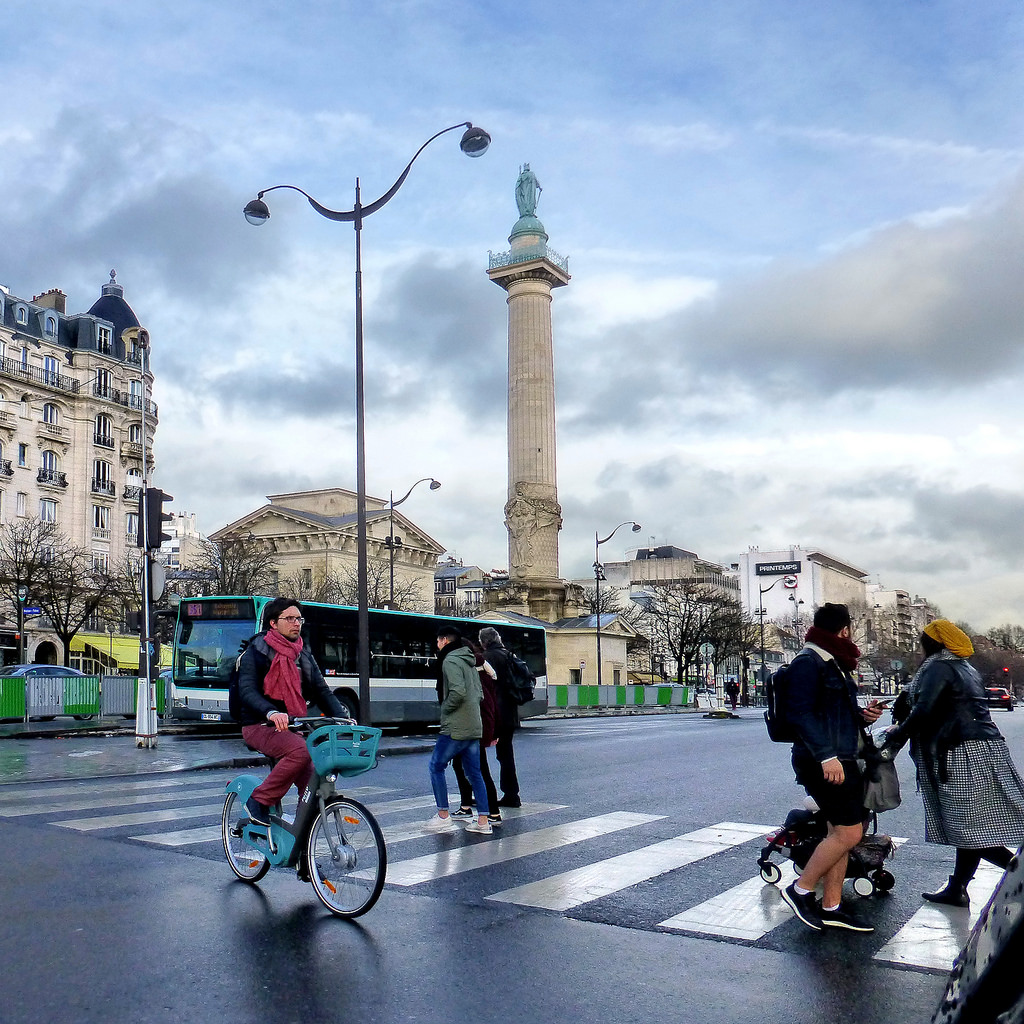 paris and bicycle fotografia