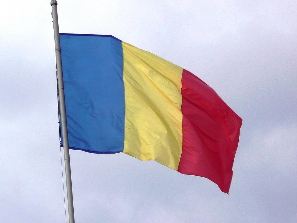 romania flag fotografia