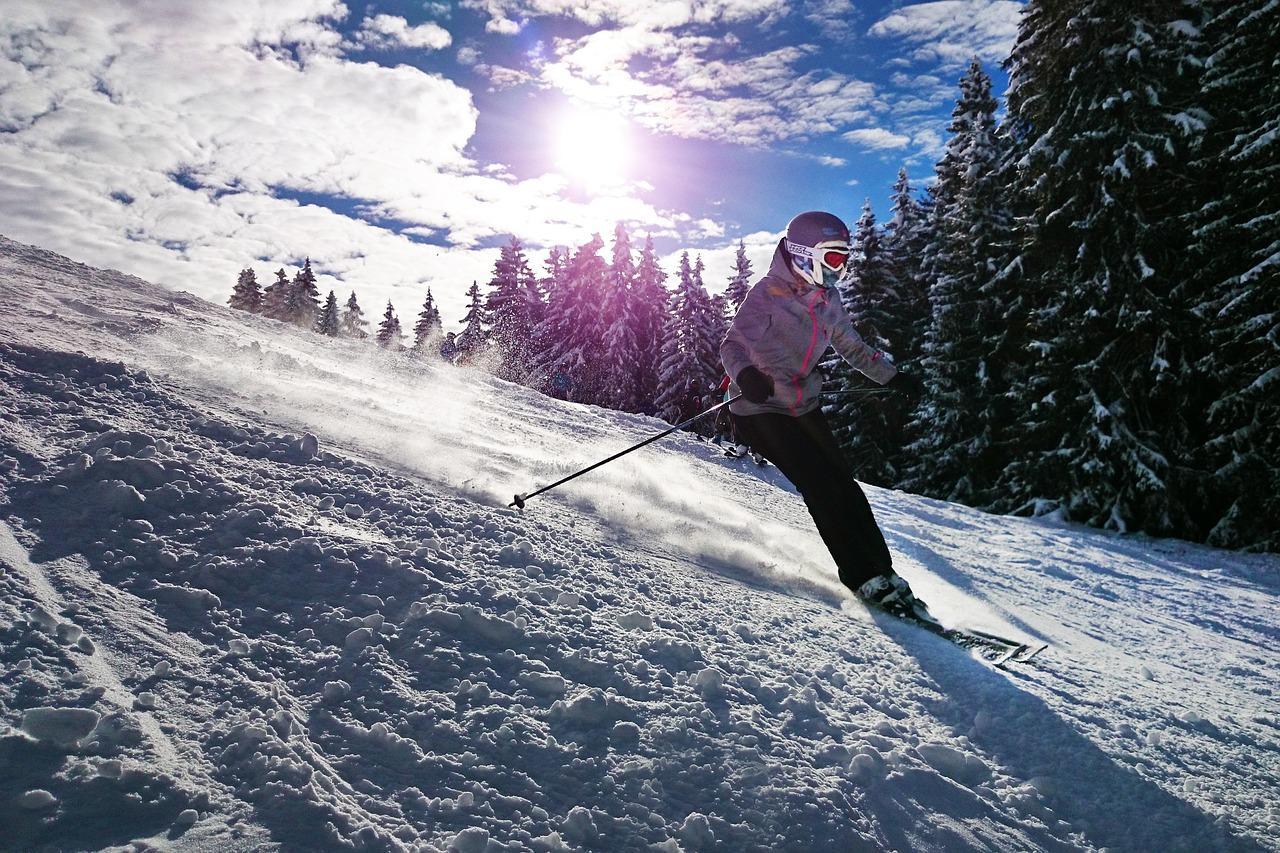 skiing fotografia
