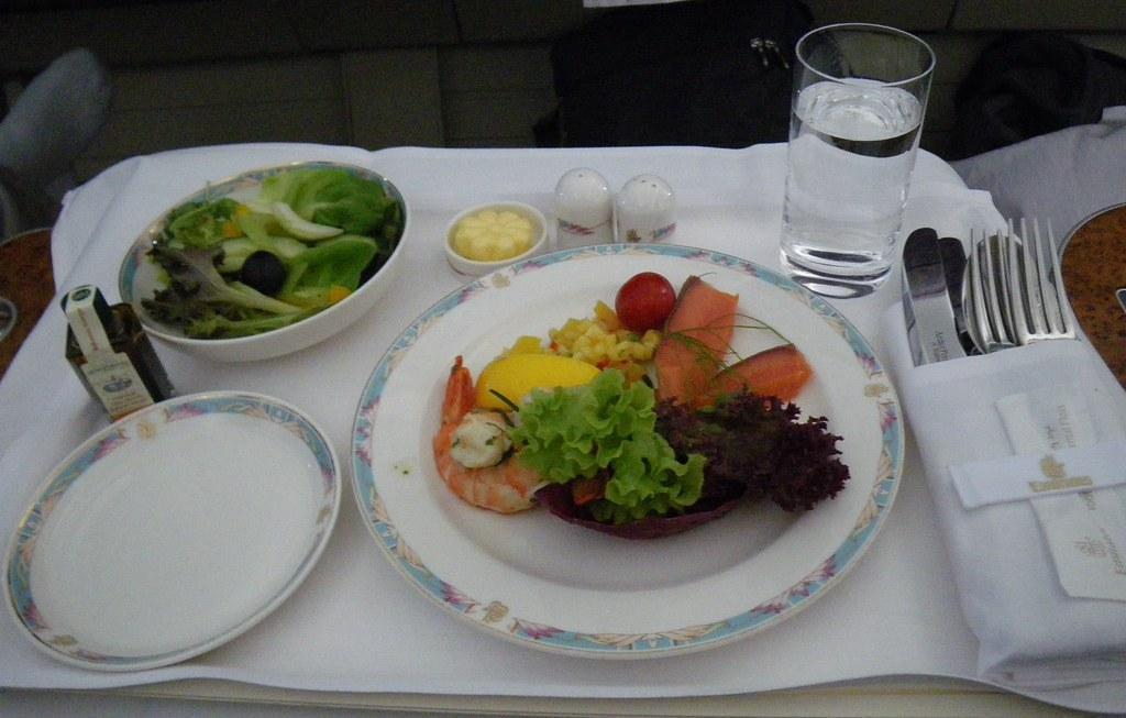food on plane fotografia